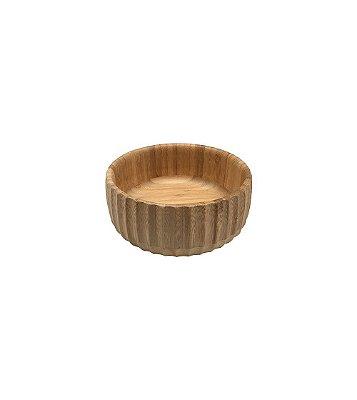 Bowl Canelado de Bambu Pequeno 15x6cm - Oikos
