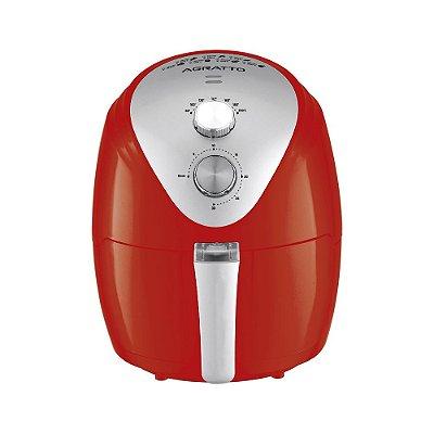 Fritadeira Elétrica Sem Óleo Air Fryer 2,5 Litros 1270W Vermelha - Silver AFV  - Agratto