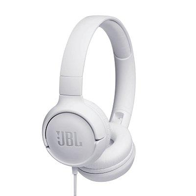 Fone de Ouvido Headphone JBL T500 com Microfone - Branco