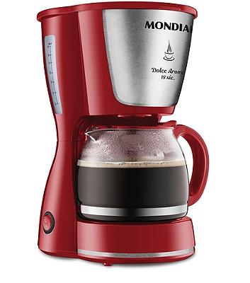 Cafeteira Elétrica Mondial Dolce Arome 18 Xícaras 550W C35 Vermelha - 127V