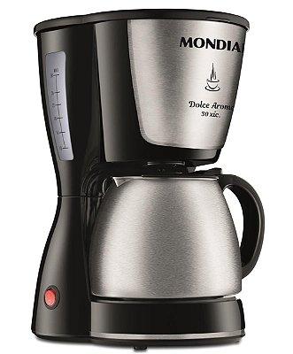 Cafeteira Elétrica Mondial Dolce Arome 30 Xícaras 800W C37JI Preto e Inox - 127V