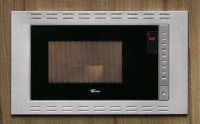 Forno Micro-ondas de Embutir Fischer Fit Line 25 Litros Inox - 127V