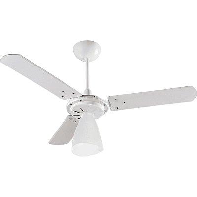 Ventilador de Teto Ventisol Wind Light 3 Pás  Branco - 127V