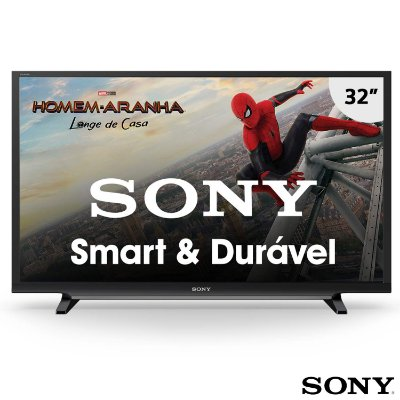 "Smart TV LED 32"" Sony KDL-32W655D/Z Motionflow 240, X-Reality, Foto Sharing Plus, HD, HDMI, USB e Wi-Fi Integrado"