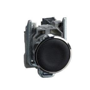 Botão 22mm Metálico A Impulsão 1NA Preto - XB4BA21 Schneider Electric