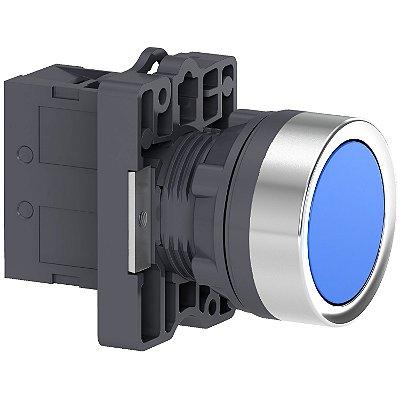 Botão 22mm Plástico a Impulsão 1NA Azul - XA2EA61 Schneider Electric
