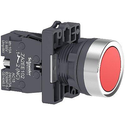 Botão 22mm Plástico A Impulsão 1NA Vermelho - XA2EA42 Schneider Electric