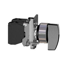 Comutador 22mm Metálico Manopla Longa 2 Fixas 1NA - XB4BJ21 - Schneider Electric