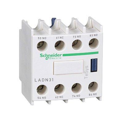 Bloco de Contato Auxiliar Instantâneo Frontal 4NA Contator - LADN40 - Schneider Electric