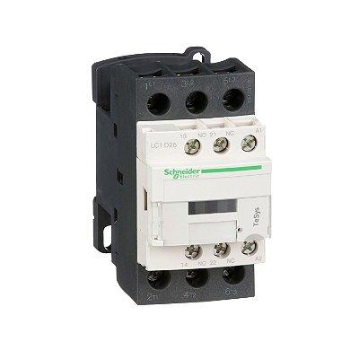 Contator Tripolar 25A 1NA+1NF 24VCA - LC1D25B7 Schneider ElectricA