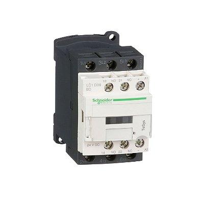 Contator Tripolar 9A 1NA+1NF 24VCC - LC1D09BD - Schneider Electric