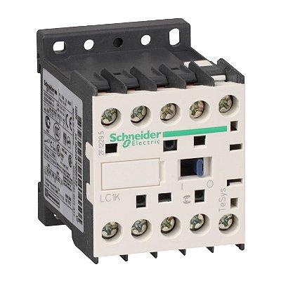 Contator Tripolar Tesys K 9A 1NA 24VCA - LC1K0910B7 Schneider Electric