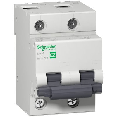 Disjuntor Easy9 2 Posições  100 A Curva C 4,5 KA 230/400 V - EZ9F33291 - Schneider Electric