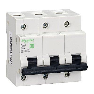 Disjuntor Easy9 3 Posições 100 A Curva C 4,5 KA 230/400 V - EZ9F33391 Schneider Electric