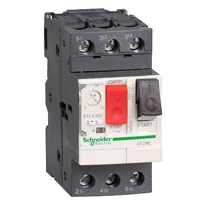 Disjuntor Termomagnético Tesys GV2 1-1.6A Botão Impulsão - GV2ME06 - Schneider Electric