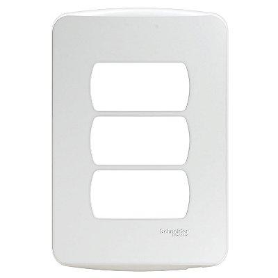 Placa 4X2 Miluz 3 Postos Branco - S3B77130 - Schneider Electric