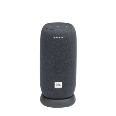 Caixa de Som Bluetooth JBL Link Portable 20 RMS Assistente de Voz À Prova D'água - Cinza