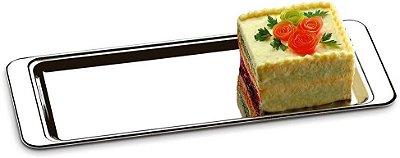 Bandeja Brinox para Torta Fria e Rocambole Atina - Inox