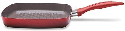 Grill Brinox Ceramic Life Smart Plus 24x22x3cm 1,35 Litros - Vermelho