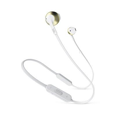 Fone de Ouvido Bluetooth JBL T205BT In-Ear com Microfone Dourado