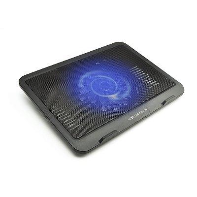 "Base para Notebook C3TECH 14"" com 1 Cooler NBC-11BK - Preto"