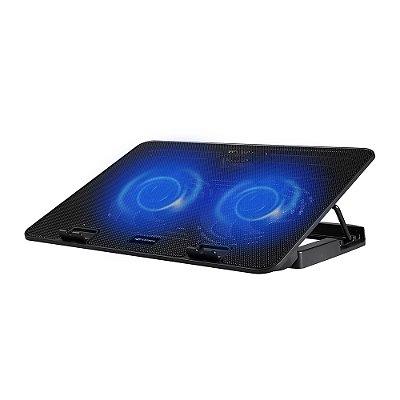 """Base Refrigerada com LED Azul para Notebook 15,6"""" com 2 Coolers USB Preto - NBC-50BK - C3Tech"""