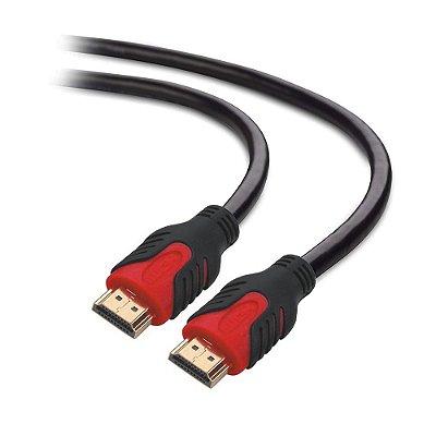 Cabo HDMI Plus Cable V2.0 10 Metros PC-HDMI100M - Preto e Vermelho