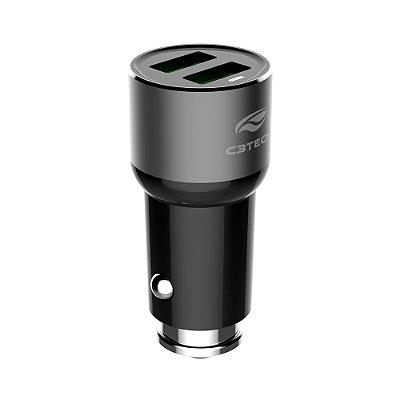 Carregador Veicular C3Tech 2 Portas USB 3,6A UCV-60BK - Preto e Cinza