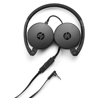 Fone de Ouvido Headphone HP com Microfone Dobrável H2800 Preto