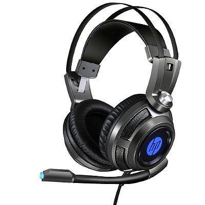 Headset Gamer HP com Microfone 7.1 Usb H200 - Preto