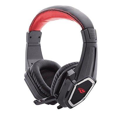 Headset Gamer C3Tech Crow com Microfone PH-G100BK - Preto e Vermelho