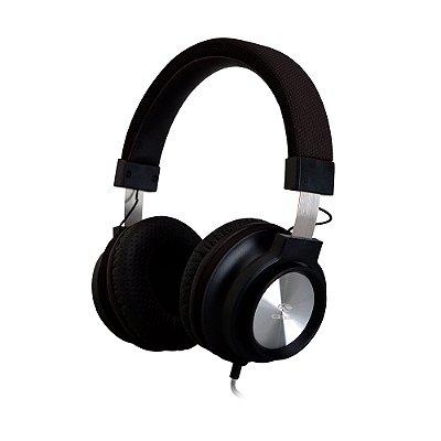 Fone de Ouvido Headphone C3Tech com Microfone PH-300BK - Preto