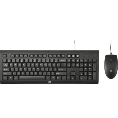 Kit Teclado e Mouse HP C2500 Usb - Preto