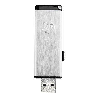 Pen Drive 64GB HP V257W Usb 2.0 - Prata