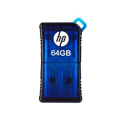 Mini Pen Drive 64GB HP V165W Usb 2.0 - Azul