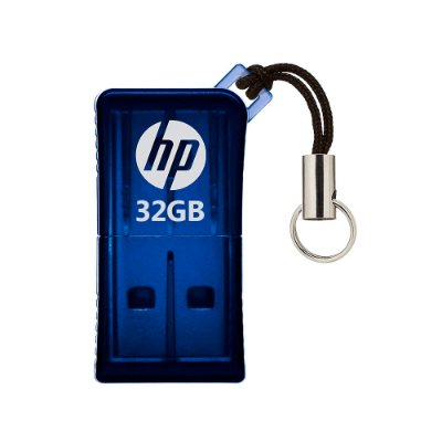 Mini Pen Drive 32GB HP V165W Usb 2.0 - Azul