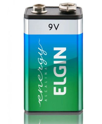 Bateria Alcalina Elgin 9v 82158 - Blister com 1 Unidade