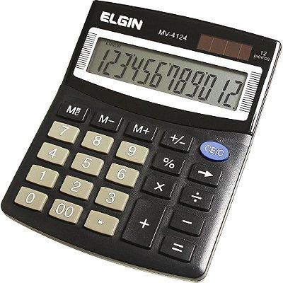 Calculadora de Mesa Elgin com 12 dígitos MV-4124 - Preto