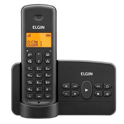 Telefone sem Fio Elgin com Identificador de Chamadas Secretária Eletrônica Viva Voz TSF 800SE Preto