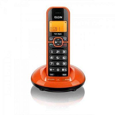 Telefone sem Fio Elgin com Identificador de Chamadas Viva Voz TSF 7600 Laranja