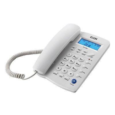Telefone com Fio Elgin com Identificador de Chamadas TCF 3000 Branco