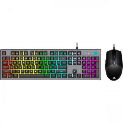 KIT Teclado e Mouse Gamer HP KM300F Usb - Preto