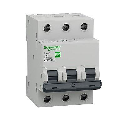 Disjuntor Easy9 3P 63A C 6000A 400V - EZ9F56363 - Schneider Electric