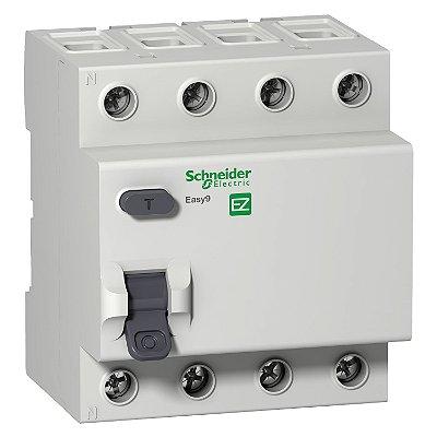 Interruptor Diferencial Residual Easy9 RCCB 4P 40A 30MA Tipo AC 400V - EZ9R06440 Schneider Electric