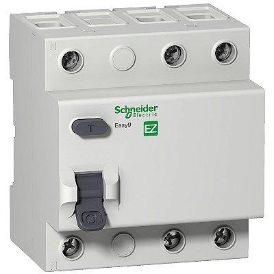 Interruptor Diferencial Residual Easy9 3P 30MA 25A Classe AC 3000A 230/415V - EZ9R33325 - Schneider Electric