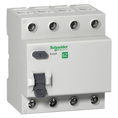 Interruptor Diferencial Residual Easy9 4P 30MA 63A Classe AC 3000A 415V - EZ9R33463 - Schneider Electric