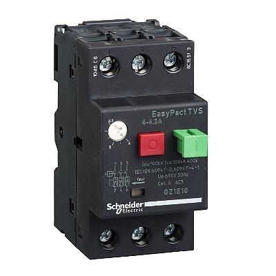 Disjuntor Termomagnético Tesys GZ1E 4-6.3A Botão Impulsão - GZ1E10 Schneider Electric