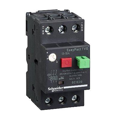 Disjuntor Termomagnético Tesys GZ1E 13-18A Botão Impulsão - GZ1E20 - Schneider Electric