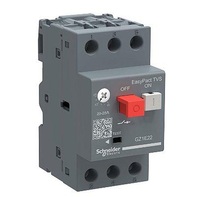 Disjuntor Termomagnético Tesys GZ1E 17-23A Botão Impulsão - GZ1E21 - Schneider Electric