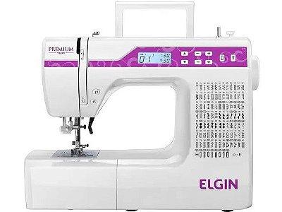 Máquina de Costura Elgin JX-10000 Premium Branca e Rosa - Bivolt
